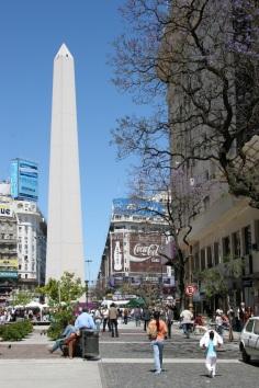 Obelisk with Jacaranda